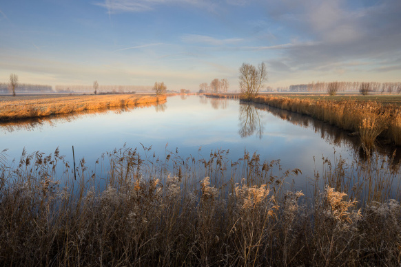 Belgium, België, Boerekreek, Krekengebied, Landscape, Meetjesland, Sint-Jan-In-Eremo, creek, iefdelaender.com, kreek, landschap, water, winter