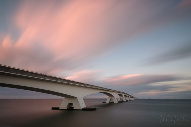 Zeeland bridge in the Netherlands