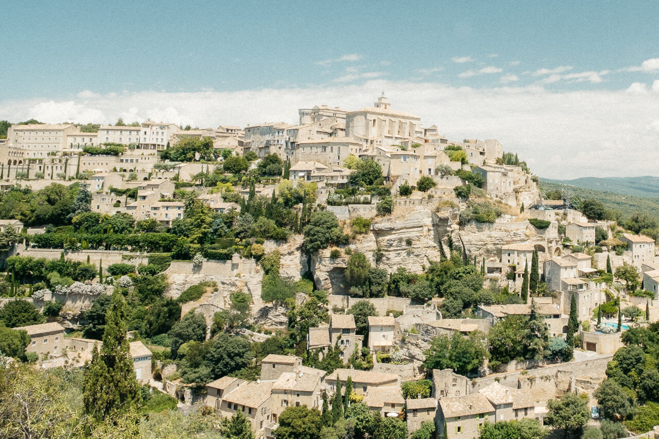 A view of the city of Gordes